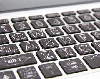 Vinyl mac book Keyboard decal Laptop Keyboard Skin Macbook keyboard Sticker for Apple Macbook Air Pro Macbook Wireless Keyboard