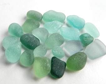 Teal Shades Sea Glass Pieces for Jewellery