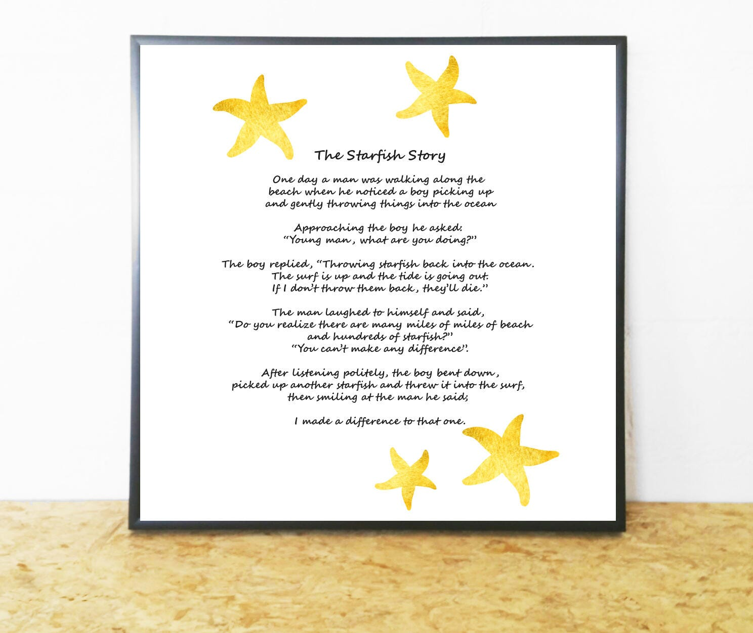 Starfish poem card -  Zoom
