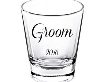Groom Shot Glasses/ Custom Shot Glass/ Personalized Shot Glass/
