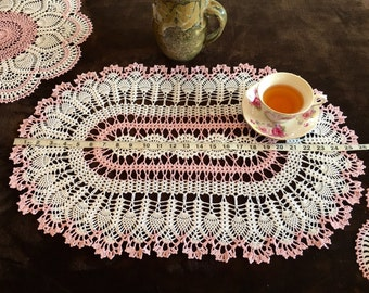 Crochet Doily Set - Wedding Gift - Handmade Doilies - Crochet Lace Doily - Housewarming Gift - Fall Home Decor - Rustic Doily Set
