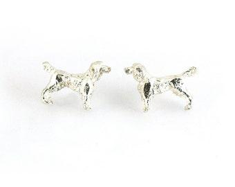 Silver Spaniel Ear Studs