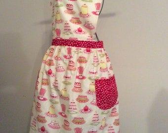 Woman's apron, mothers apron, cotton apron