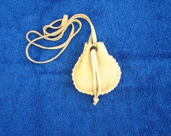 Deer skin Leather Medicine Bag Native Regalia Deerskin Medicine Pouch Native American