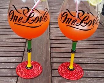 One Love wine glass