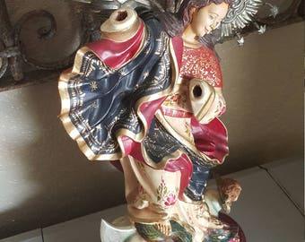Angel vintage angel wood angel saint santos