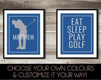 Superior Golf Wall Art, Boyu0027s Golf Bedroom Decor, Personalized Golf Print, Golf  Print Set Part 27
