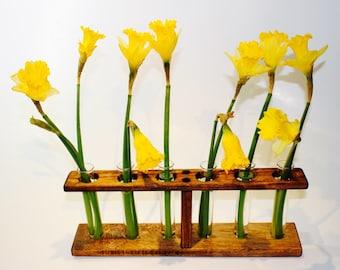 Wooden Bud Vase, Wooden Centrepiece, Weeding Centerpiece, Bud Vase, Home Decor.