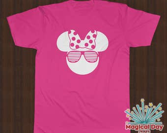 Disney Shirts - Minnie Mouse Stunner Shades (White Design)