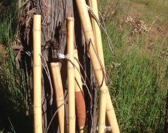 100% Natural Bamboo Hiking Stick, Wooden Hiking Stick, Hiking Staff, Wood Walking Staff, Wood Trekking Pole, Handmade Pole, Backpacking