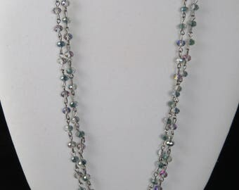 Double Aurora Crystal Chain Necklace