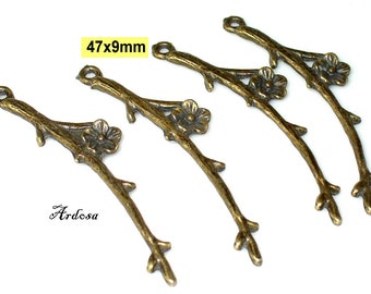 4 branches with floral bronze 47x9mm (K109. 47)