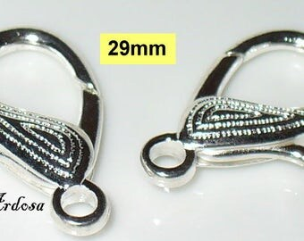 2 carabiners silver bright 29 mm (K110. 29)