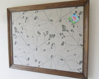 Vintage upcycled notice board