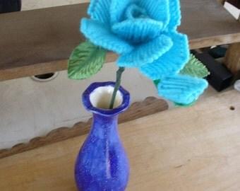 Light Blue Long Stem Rose