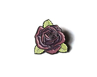 Plum Rose Pin
