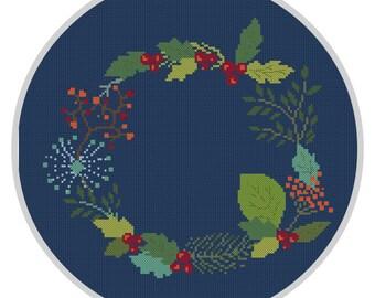 Floral Cross Stitch Pattern PDF Modern cross stitch pattern Instant download X171