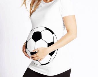 Maternity shirt, Soccer ball maternity shirt, Soccer ball, Preggers shirt, Maternity t-shirt, Soccer maternity shirt, Football Maternity tee