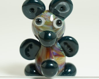 Mega Mai Tai Bear Glass Pendant