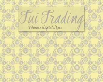 Digital Paper, Victorian Design, Seamless Wallpaper, Antique Style, Art Paper, Scrapbook Printable Paper