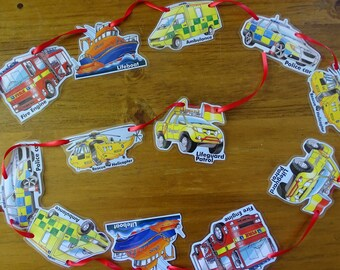 Emergency Vehicles Bunting,