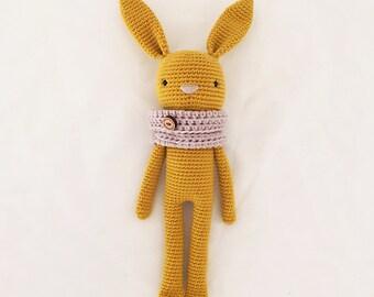 Bunny soft toy, crochet toy, woollen stuffed toy, softie, plushie