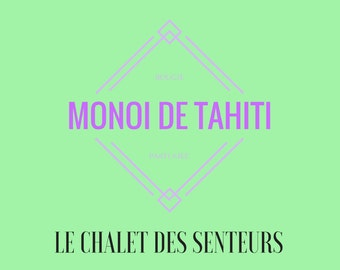 Bougie parfumée 100% naturelle Monoï de Tahiti