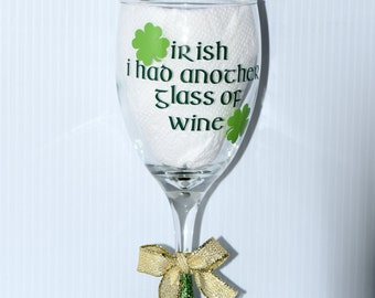 St. Patrick's Day Irish Wine Glass