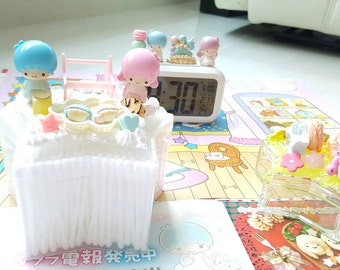 Handmade Kiki And Lala My Little Twin Stars Rement Decoden Star Botton Bud Container
