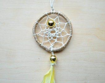 "Dreamcatcher ""Pearl"" Small Souvenir Necklace Car Decoration"