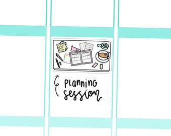 a planer girl's desk - hand doodled planner stickers C070