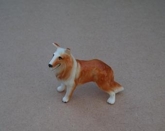 Ceramic Collie Dog Figure - Vintage