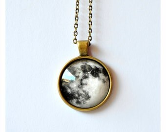 Necklace | Full moon | 25x25 mm