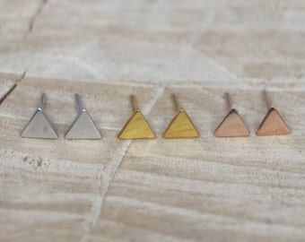 Triangle Studs | Triangle Earrings | Sterling Silver 925 Triangle Earring | Minimal Geometric Earring | Geometric Studs