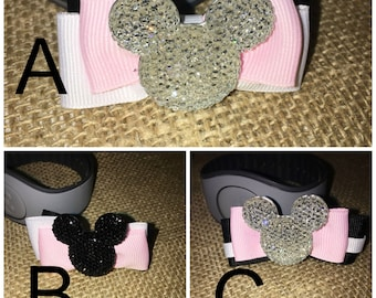 Mickey Magic Band Bow in Black, Pink, & White