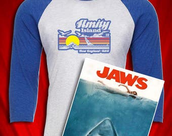 Amity Island Vintage Tee Jaws 1975 Great White Shark
