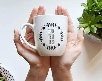 Personalized Mug Coffee Mug Engagement Gift Wedding Mug Gift For Couple Wedding Gift Cute Mug Custom Mug Hand Painted Mug Unique Mug