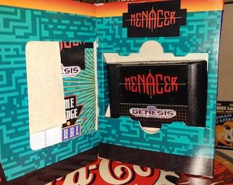 Sega Genesis - CIB - 6 Game cartridge Menacer (Complete In Box)