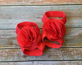 Red Barefoot Sandals/Baby Barefoot Sandals/Newborn Sandals/Newborn Shoe/Red//Baby Shoes/Baby Girl Shoes/Baby Sandal/Baby SandelBaby Shoes