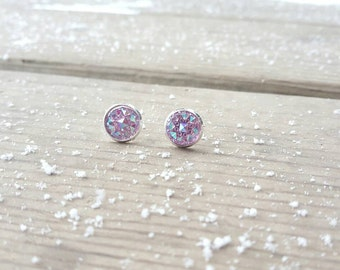Light purple sparkly earrings