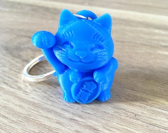 Key chain cat good luck / money cat