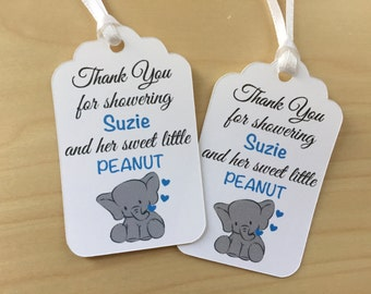 little peanut baby shower favor tags baby elephant baby shower favor tags baby animals