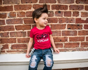 Cupids Wingman, Valentines Day Shirt, Boy Valentines Day Shirt, Funny Valentines Shirt, V-Day Shirt, Baby Boy, Toddler Boy, Valentine Tee
