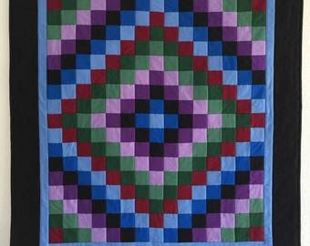Handmade quilt, Amish inspired quilt, Baby boy quilt, Baby girl quilt, Wall quilt, Quilts for sale, Amish pieced quilt, Quilts for babys