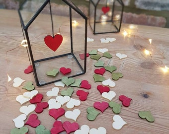 Valentines day gift /Mini wedding present / girlfriend gift/ hygge  Wall Hanging House/ glass Handmade heart House/ wedding table decoration