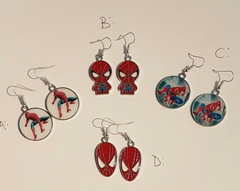 Spiderman Superhero Earrings *now with 4 styles*