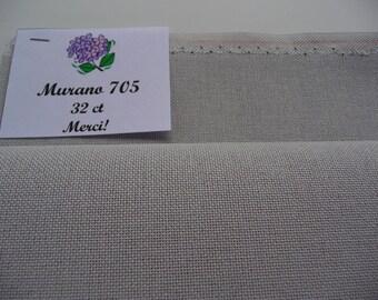 Evenweave fabric, Murano Lugana 705 Evenweave, 32 Count, Manufacturer Zweigart, Germany, Size: 50 х 70 cm