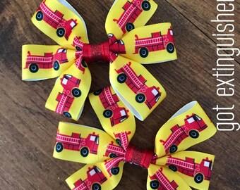 Firetruck Bows