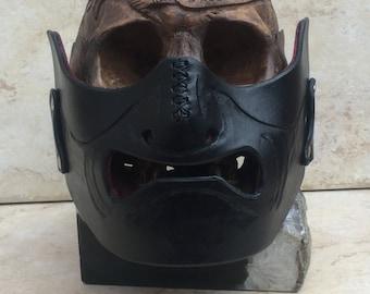 Samurai Motorcycle Half Mask (Mempo)