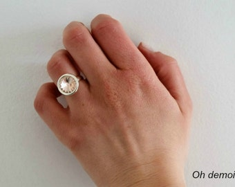 Champagne Sterling Silver Ring
